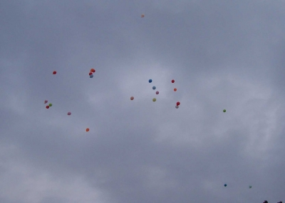 Ballonaktion Kirchsteinbeker Marktplatz 10
