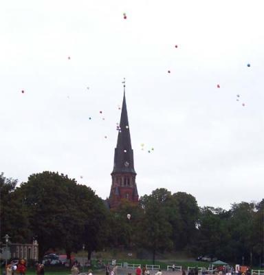 Ballonaktion Kirchsteinbeker Marktplatz 1