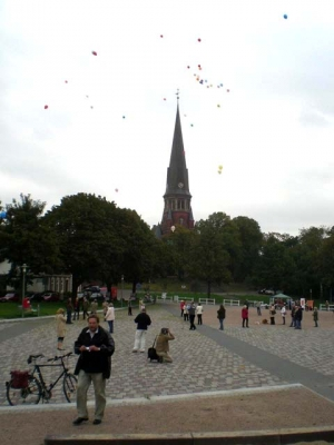 Ballonaktion Kirchsteinbeker Marktplatz 6