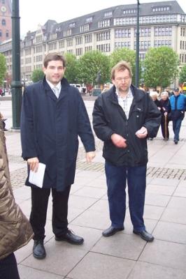 Pressetermin vor dem Hamburger Rathaus 6