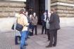 Pressetermin vor dem Hamburger Rathaus 2